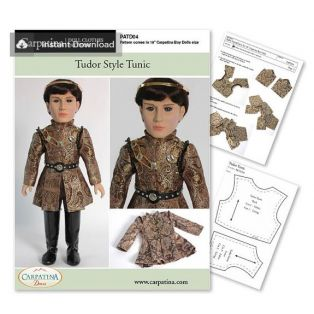 Doll Sewing Pattern: Tudor Style Tunic - Download