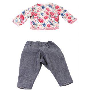 Gotz Floral Top & Jeans, XL