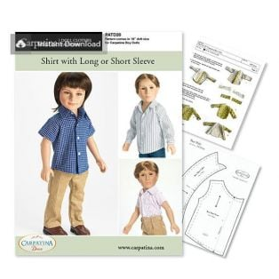Doll Sewing Pattern: Shirt - Download