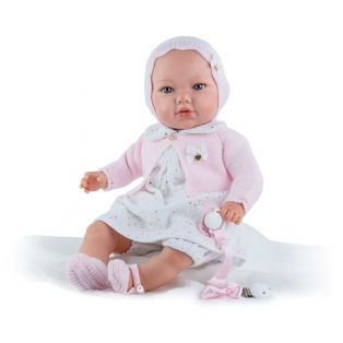 Marina & Pau Baby Doll In White Dress 43cm
