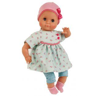 Schildkrot Schlummerle Turquoise & Hearts Baby Girl Doll 32cm