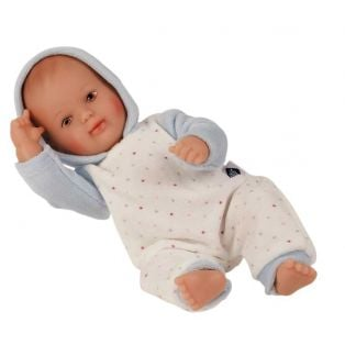 Schildkrot My First Baby Girl or Boy Doll In Blue Nicky Velour 28cm