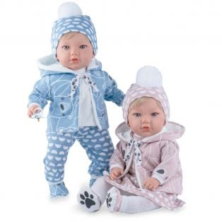 Marina & Pau Toddler Teo Boy Doll In Knitted Outfit 43cm alternate image