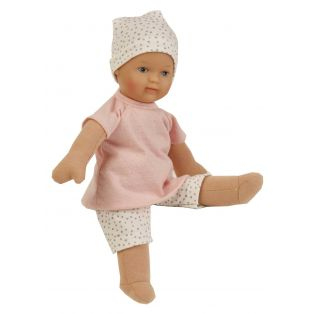 Schildkrot Schmuserle Fabric and Vinyl Baby Doll Blue Eyes 28cm