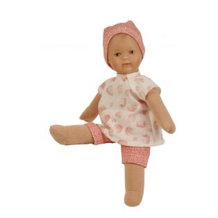 Schildkrot Schmuserle Fabric and Vinyl Baby Doll Brown Eyes 28cm