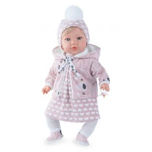 Marina & Pau Toddler Girl Doll In Knitted Outfit 43cm