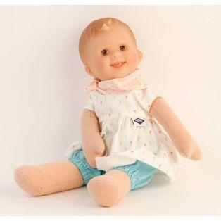 Schildkrot Lockchen Fabric and Vinyl Baby Doll Brown Eyes 30cm alternate image