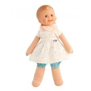 Schildkrot Lockchen Fabric and Vinyl Baby Doll Brown Eyes 30cm