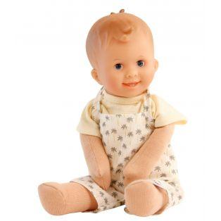 Schildkrot Lockchen Fabric and Vinyl Baby Doll Blue Eyes 30cm