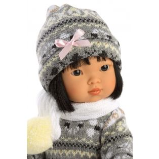 Llorens Asian Toddler Casual Dressed Doll Lu, 28cm alternate image
