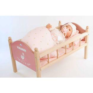 Schildkrot Wooden Painted Doll Bed 50cm alternate image