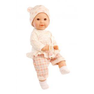Schildkrot Lenchen Brown Sleepy Eye Baby Doll With Dummy 37cm
