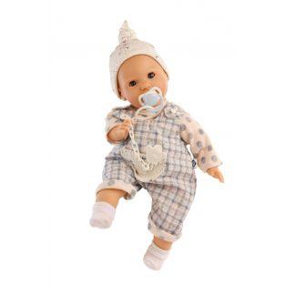 Schildkrot Lenchen Sleepy Eye Baby Doll With Dummy In Blue 37cm