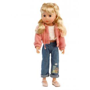 Schildkrot Yella Frieske 46cm Blonde Hair Doll Wearing Jeans 2021