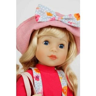 Schildkrot Yella Frieske 46cm Blonde Hair Doll With Hat