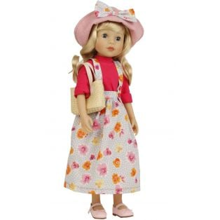 Schildkrot Yella Frieske 46cm Blonde Hair Doll With Hat alternate image
