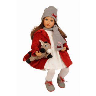 Schildkrot Carolina Sauer Brunette Doll 53cm