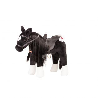Gotz LARGE Horse With Mane & Tail To Comb & Hairbrush 50cm (Black), XL