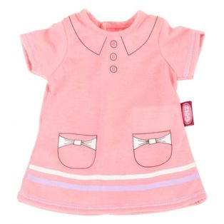 Gotz Pink Polo Dress, M, 42-46cm