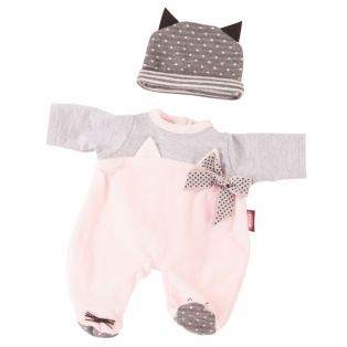 Gotz Baby Doll Cat Romper & Hat 30-33cm, 42-46cm, S, M