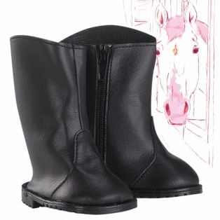 Gotz JLM Tall Black Horse Riding Boots XS, 27cm