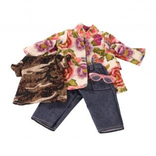 Gotz 3-Piece Flower Jeans Outfit 45-50cm, XL