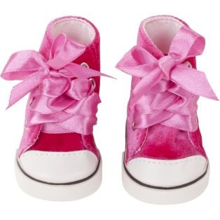 Gotz Pink Velvet Boots  42-50cm, M, XL
