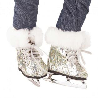 Gotz Silver Christmas Glitter Ice-Skating Boots M, XL alternate image