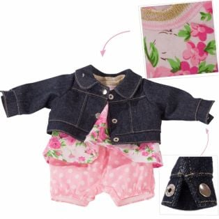 Gotz Baby Doll Roses & Spots 3-Piece Set S, 30-33cm