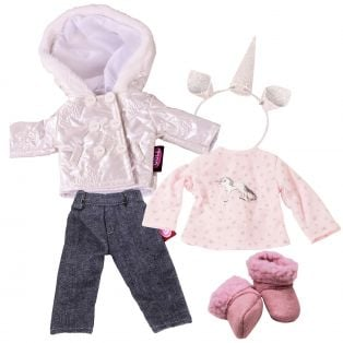 Gotz Just Like Me In Winter Doll Clothing Set 27cm, XS