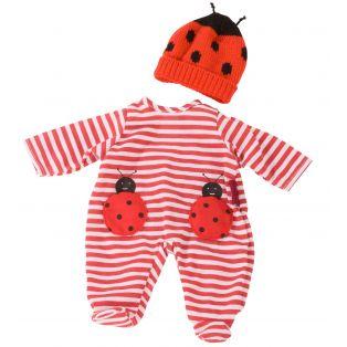 Gotz Baby Doll Ladybug Romper Set S, 30-33cm