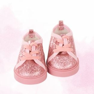 Gotz Pink Glitter Pumps For Little Kidz XM, 36cm