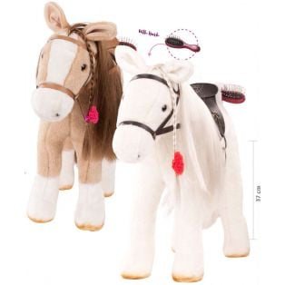 Gotz LARGE Horse With Mane & Tail To Comb & Hairbrush 50cm (BEIGE), XL