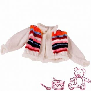 Gotz Knitted Striped Cardigan, 30-50cm, S, M, XL