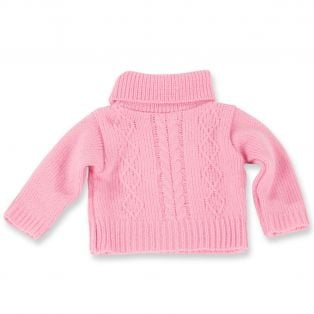 Gotz Pink Knitted Sweater Aran Style, 42-50cm, M, XL
