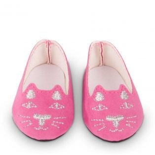 Gotz Pink Kitten Shoes M, XL