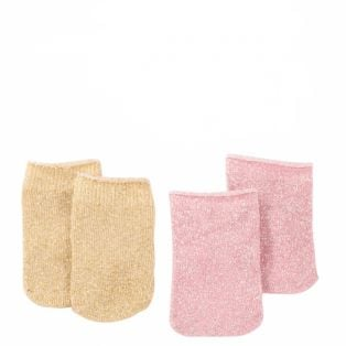 Gotz Pack of 2 Glitter Ankle Socks 42-50cm, M, XL