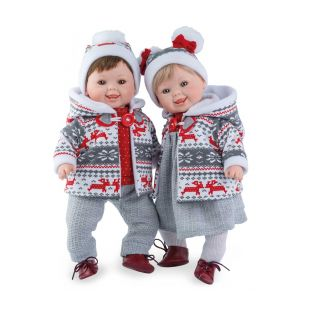 Marina & Pau Toddler Girl Doll Meredith In Red Winter Outfit 43cm alternate image