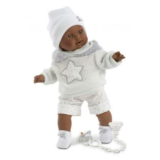 Llorens Simon Black Baby Boy Doll 38cm