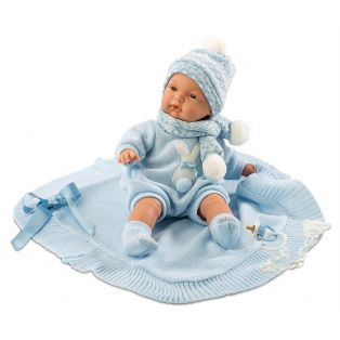CHANGED SKU Llorens Newborn Baby Boy Doll Joel 38cm With Dummy