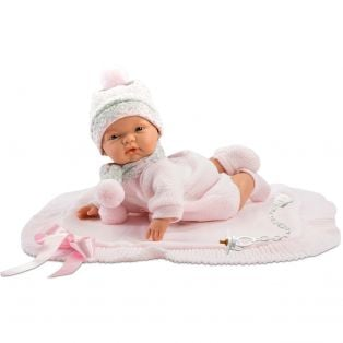 Llorens Newborn Baby Doll Joelle 38cm With Dummy