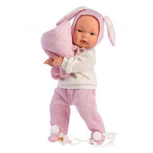 Llorens Newborn Baby Doll Joelle In A Snuggle Sack Cries, 38cm alternate image
