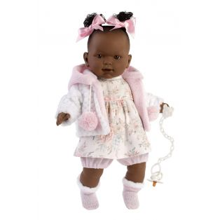 Llorens Black African Toddler Baby Doll Nicole Cries, 42cm