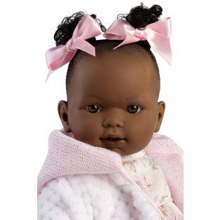 Llorens Black African Toddler Baby Doll Nicole Cries, 42cm alternate image