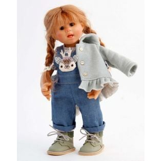 Schildkrot Wichtel Doll Emma Muller In Dungarees 2021, 30cm