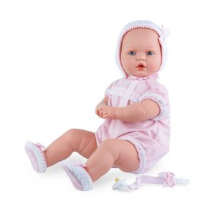 Marina & Pau Large Newborn Baby Doll Paula, Closing Eyes, Cries 60cm