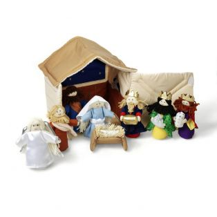 Oskar & Ellen Fabric Nativity Playset 10 Pieces