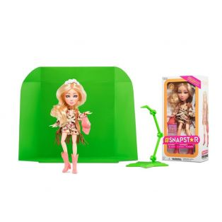 SnapStar Fashion Action Multi-Jointed App Doll ASPEN With Green Screen, 25cm alternate image