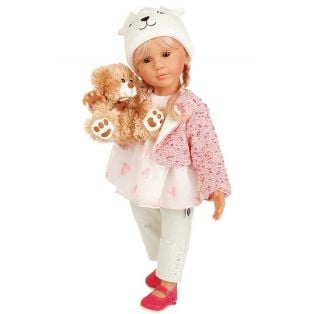 Schildkrot Isi Legler Blonde Doll With Teddy 50cm
