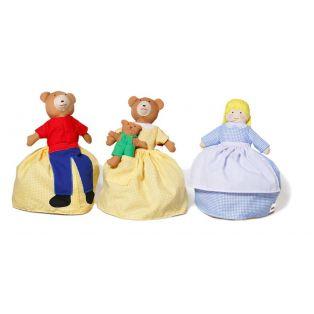 Oskar & Ellen Reversible Story Telling Goldilocks Doll, 24cm